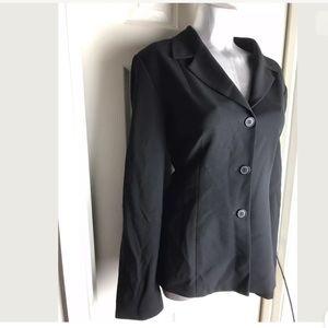 Bloomingdales Black Suit Jacket Blazer Lined Sz 12